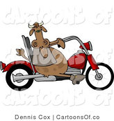 Cartoon Illustration of a Biker Cow by Djart