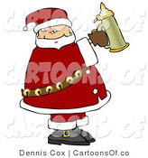 Cartoon Illustration of a Caucasian Santa Holding a Beer Stein by Djart