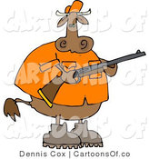 Cartoon Illustration of a Cow Hunter by Djart