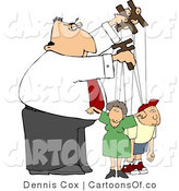 Cartoon Illustration of a Puppeteer Guy Controlling His Family by Djart