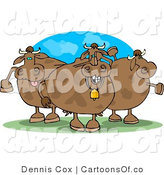 Cartoon Illustration of Silly Cows by Djart