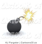 January 24th, 2012: Illustration of a 3d Bomb Sparking by KJ Pargeter