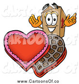 Illustration of a Cardboard Box with Valentines Day Chocolate Candies by Toons4Biz