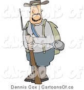 Illustration of a Confederate Army Soldier with Rifle and Bayonet by Djart