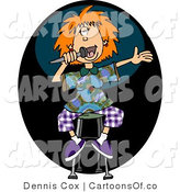 February 8th, 2012: Illustration of a Female Stand up Comedian Telling Jokes by Djart