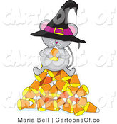 Illustration of a Halloween Mouse by Maria Bell
