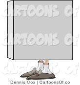 Illustration of a Mans Shoes Sticking out from a Box by Djart