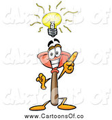 Illustration of a Plunger Mascot with a Bright Idea by Toons4Biz