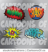 Illustration of Whamm Crash Bam Arrrrgh Comic Sound Balloons by Stockillustrations