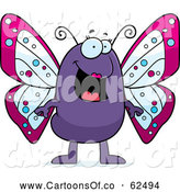 Vector Cartoon Illustration of a Happy Butterfly Standing by Cory Thoman