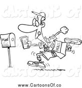 February 5th, 2014: Vector Illustration of a Black and White Fast Post Man by Toonaday