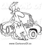 Royalty free car repair stock cartoon designs for Mechanic coloring pages