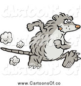 Vector Illustration of a Possum Running by Johnny Sajem