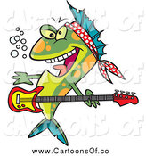 Vector Illustration of a Rocker Fish by Toonaday