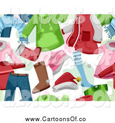 Vector Illustration of a Seamless Background of Children's Christmas Clothing by BNP Design Studio