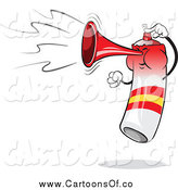 Vector Illustration of a Spain Flag Air Horn Blowing and Jumping by Holger Bogen