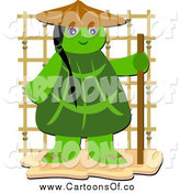 Vector Illustration of a Tortoise Monk by