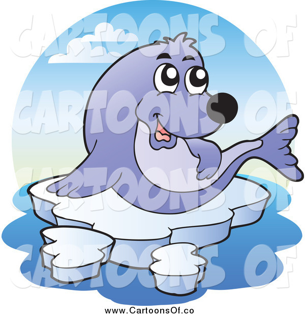 Vector Illustration of a Seal and Ice