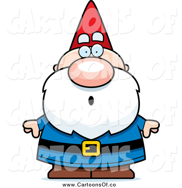 Vector Illustration of a Surprised Gasping Gnome