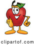 Cartoon Illustration of a Happy Red Apple Character Mascot Pointing at the Viewer by Toons4Biz