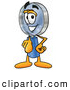 Cartoon Illustration of a Magnifying Glass Mascot Pointing at the Viewer by Toons4Biz