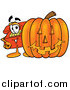 Illustration of a Telephone Character with a Halloween Pumpkin by Toons4Biz