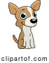 Vector Cartoon Illustration of a Cute Chihuahua Puppy Sitting by Cory Thoman