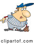 Vector Illustration of a Cartoon Chubby Baseball Player Ready to Pitch by Toonaday