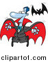 Vector Illustration of a Dracula Vampire and Flying Bat by Toonaday