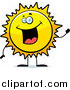 Vector Illustration of a Happy Sun Character Waving by Cory Thoman